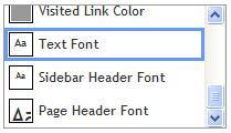 Font Elements