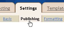 Settings - Publishing