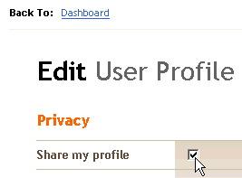Share my Profile