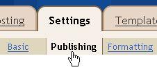 Settings - Publishing